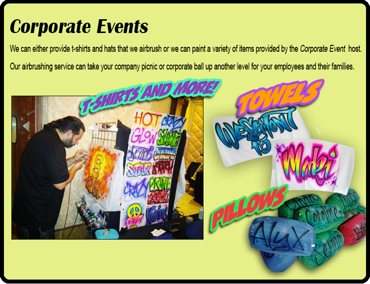 Corporate Events Airbrushing NY