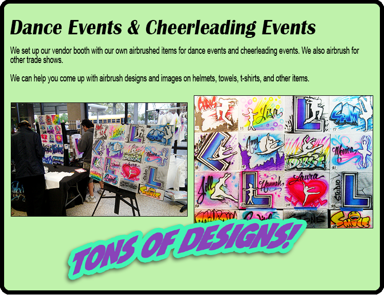 Dance Events & Cheerleading Events Airbrushing NY