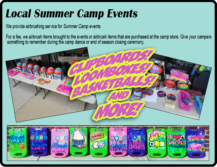 Local Summer Camp Events Airbrushing NY