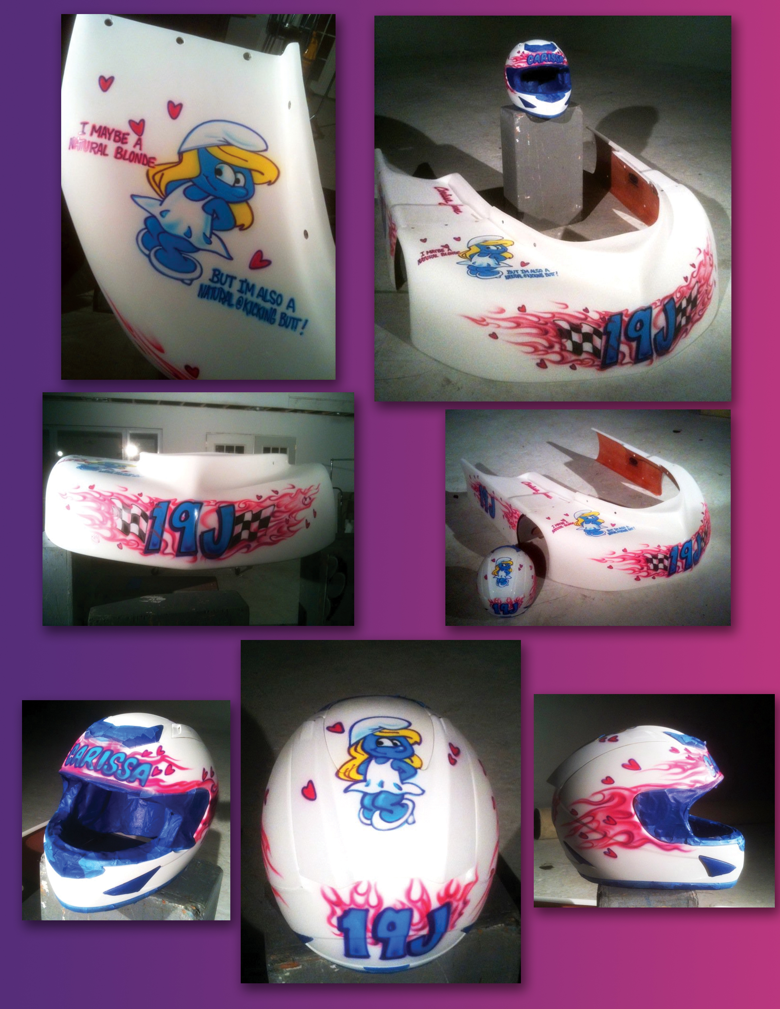 helmet airbrush artists