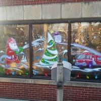 Airbrush Everything Holiday Windows