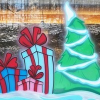 Airbrush Everything Window Painting Photos